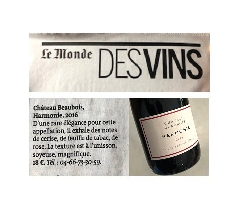 Le Monde - World of wines supplement - May 2019