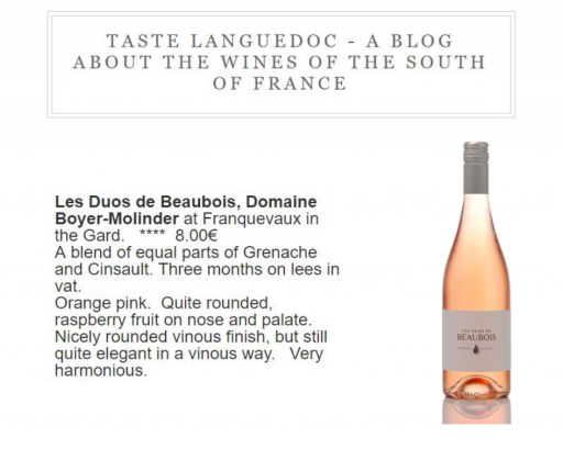 Taste Languedoc Blog - Tuesday 9 july 2019