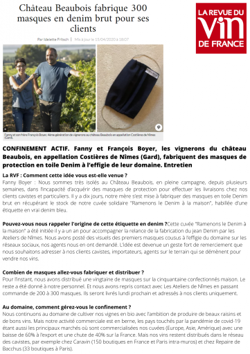 La Revue du Vin de France - April 2020